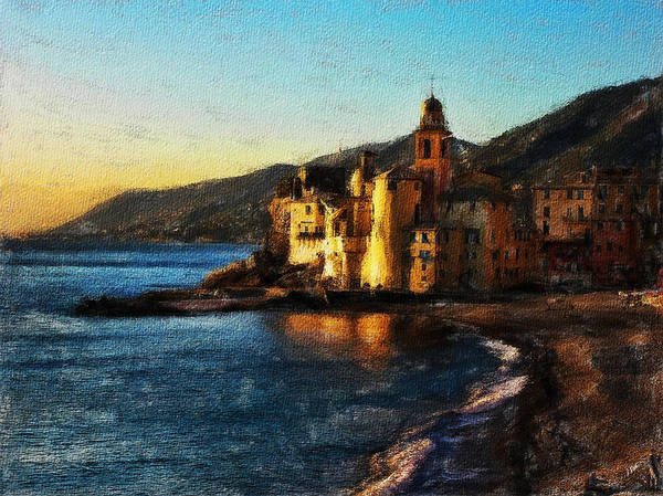 Painting - Camogli Church Beach by Dean Wittle
