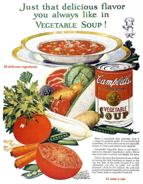Photograph - Campbells Soup Ad, 1926 by Granger
