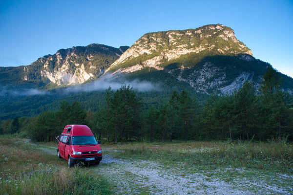 Friuli Photograph - Camping In The Wild Mountains Of Friaul by Olaf Broders