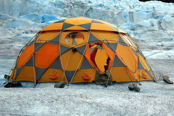 Camping Wall Art - Photograph - Camping On A Glacier by Sophie Vigneault