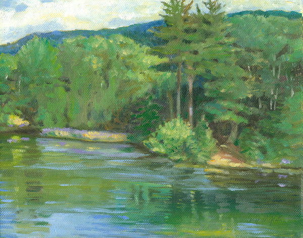 Wall Art - Painting - Campton Nh by Leslie Alfred McGrath