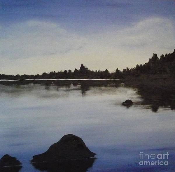Painting - Canadian Lake By Monika Dickson by Monika Shepherdson