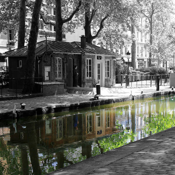 Photograph - Canal Saint Martin by Andrew Fare