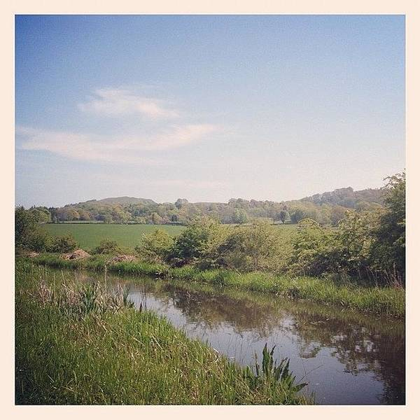 Grace Wall Art - Photograph - #canal #water #river #countryside by Grace Shine