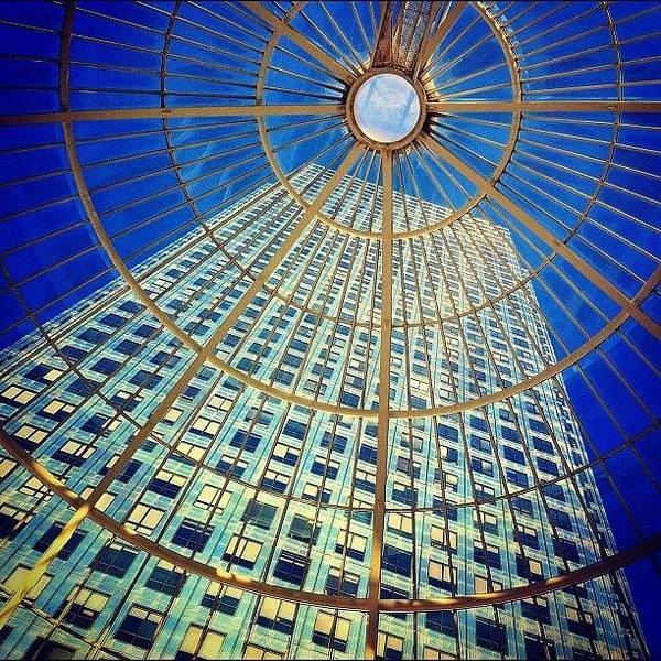 Skyscraper Photograph - Canary Wharf Gold by Samuel Gunnell