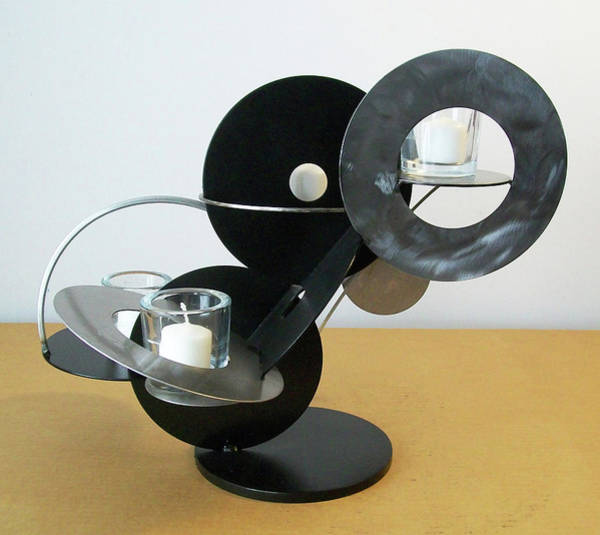 Sculpture - Candle Holder Model D V3 by John Gibbs