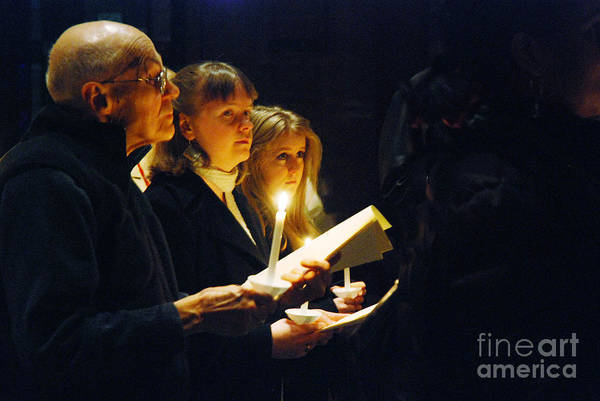 Wall Art - Photograph - Candlelight Service by Jim Wright