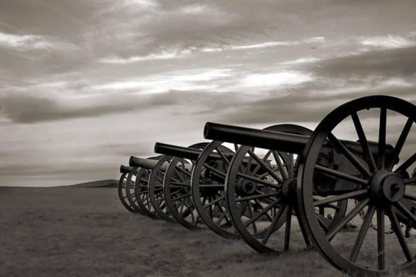 Wall Art - Photograph - Cannon At Antietam Black And White by Judi Quelland