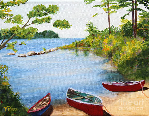 Wall Art - Painting - Canoe Inlet by Pauline Ross
