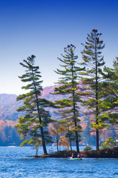 Chain Of Lakes Photograph - Canoeing On The Lake by David Patterson