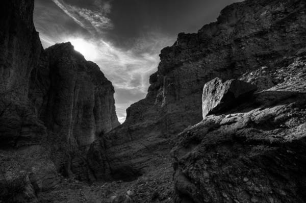 Photograph - Canyon Light - Black And White by Peter Tellone