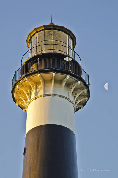 Photograph - Cape Canaveral Lighthouse And Moon by Mike Fitzgerald