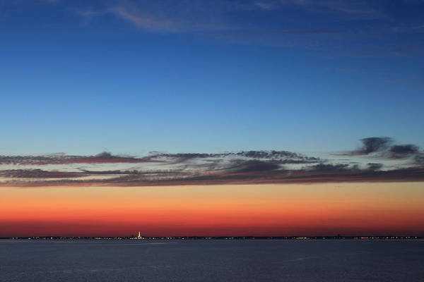 Cape Cod Sunset Photograph - Cape Cod Bay Dusk View To Provincetown by John Burk