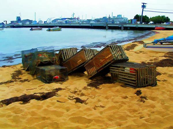 Digital Art - Cape Cod Lobster Traps by Bill Barber