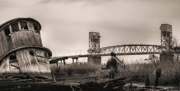 Earthtones Photograph - Cape Fear Memorial Bridge by JC Findley