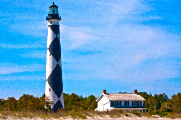 Historic House Digital Art - Cape Lookout  by Betsy Knapp