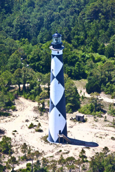 Historic House Digital Art - Cape Lookout Lighthouse by Betsy Knapp