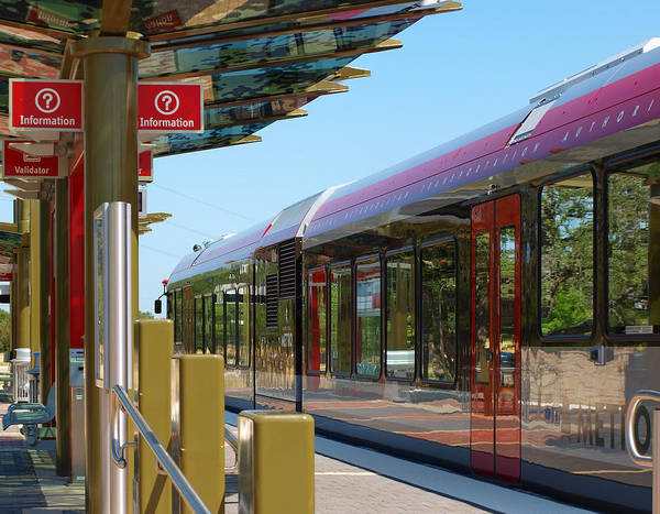 Photograph - Capital Metro Rail Austin Texas by James Granberry