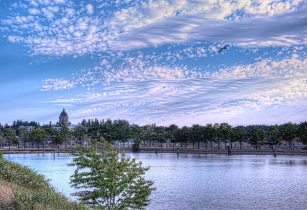 Photograph - Capitol Dome From Budd Inlet by Dan McManus