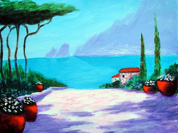 Painting - Capri Light And Color by Larry Cirigliano