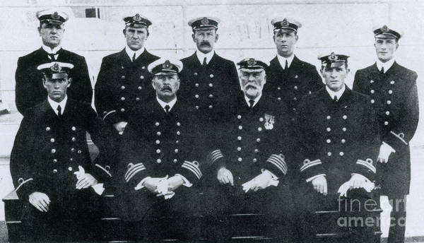 First Officer Photograph - Captain And Officers Of The Titanic by Photo Researchers