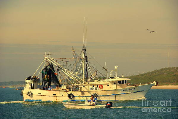 Photograph - Captain Bob's Shrimp Boat by Susanne Van Hulst