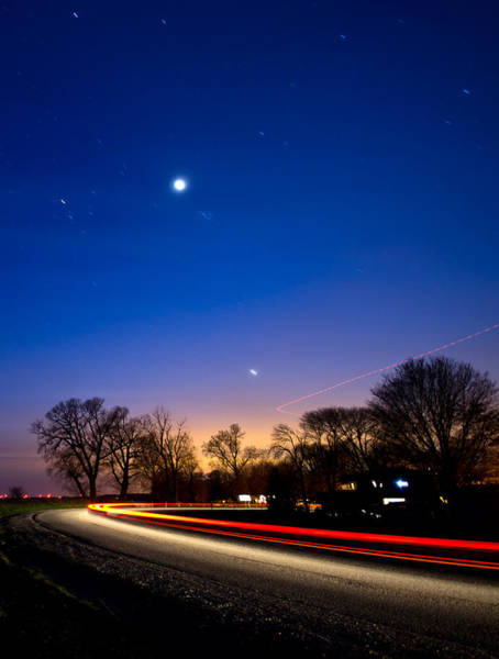 Wall Art - Photograph - Car And Plane Under Venus by Cale Best