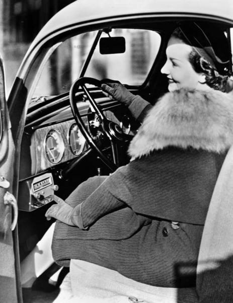 Photograph - Car Radio, C1940 by Granger