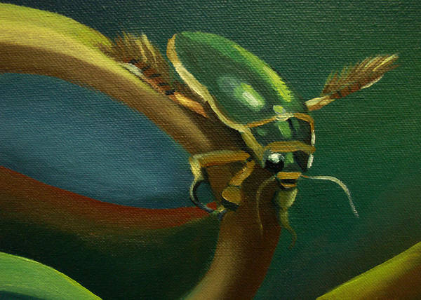 Painting - Card Of Ancient Bug by Nancy Griswold
