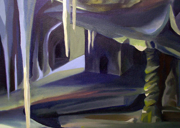 Painting - Card Of Cave Paths Of Ancients by Nancy Griswold