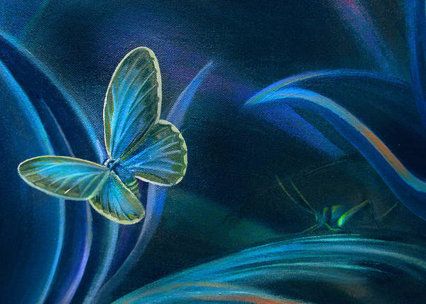 Painting - Card Of The Cricket And Butterfly by Nancy Griswold