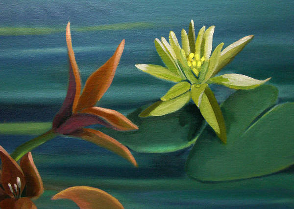 Painting - Card Of Tropical Conversation by Nancy Griswold