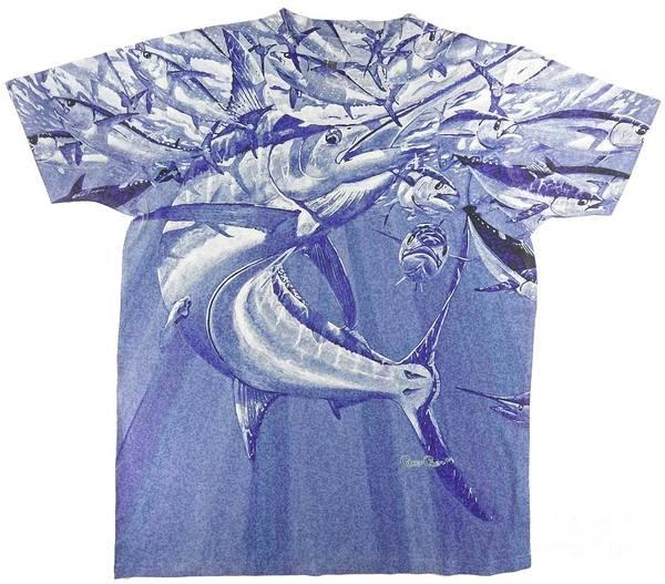 Chen Digital Art - Carey Chen Mens Marlin Shirt by Carey Chen