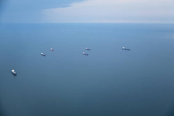 Wall Art - Photograph - Cargo Ships And Oil Tankers by Roberto Westbrook