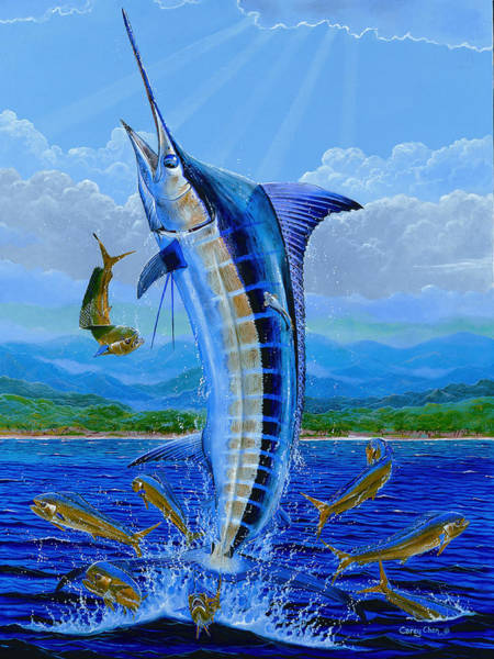 Wall Art - Painting - Caribbean Blue by Carey Chen