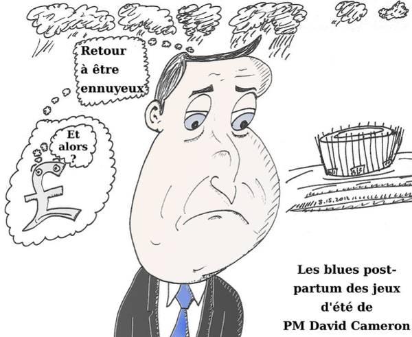 Ant Mixed Media - Caricature De Pm David Cameron by OptionsClick BlogArt