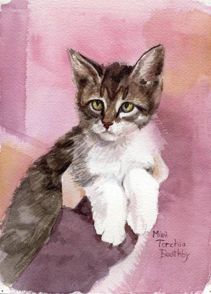 Painting - Carlisle - Kitten by Mimi Boothby