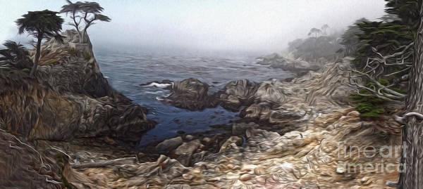 Painting - Carmel California - Lone Pine by Gregory Dyer