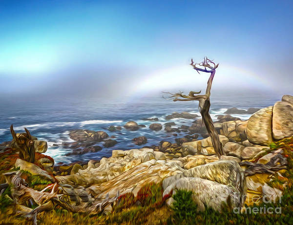 Painting - Carmel Rainbow Seascape - 02 by Gregory Dyer