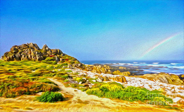 Painting - Carmel Rainbow Seascape by Gregory Dyer