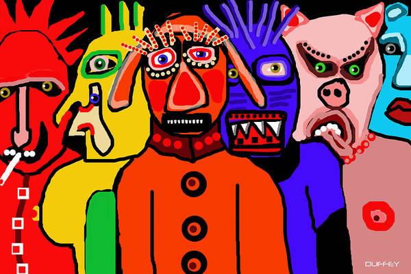 Carnavale 5a Art Print