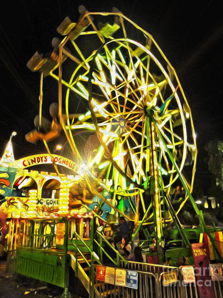 Painting - Carnival Ferris Wheel by Gregory Dyer