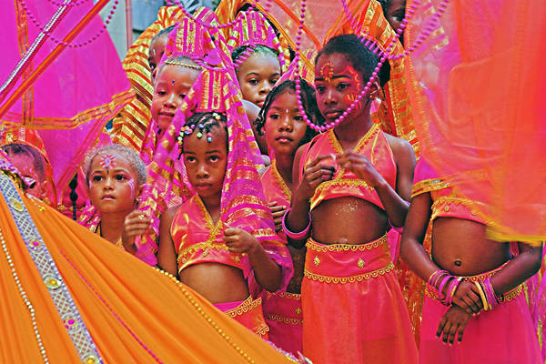Wall Art - Photograph - Carnival Kids- St Lucia by Chester Williams