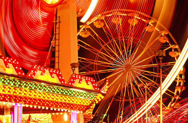 Theme Park Photograph - Carnival Lights  by Garry Gay