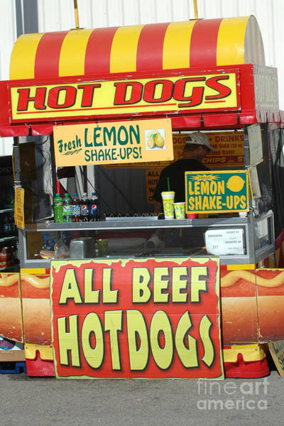 Candy Apples Wall Art - Photograph - Carnivals Fairs And Festivals - Hot Dogs Stand by Kathy Fornal