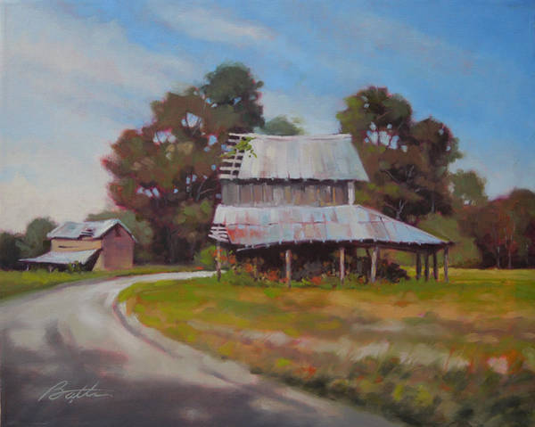 Tin Roof Wall Art - Painting - Carolina Dirt Road by Todd Baxter