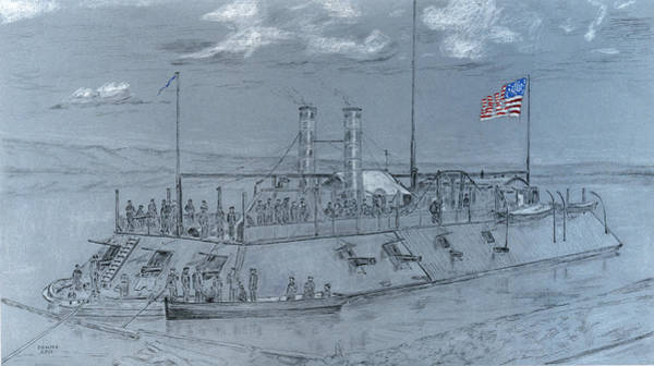 Mississippi River Drawing - Carondalet by Dennis Larson
