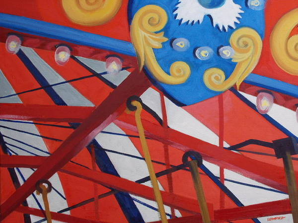 Wall Art - Painting - Carousel  Canopy by Robert Rohrich