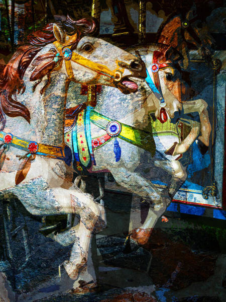 Photograph - Carousel Thoroughbreds by Pete Rems