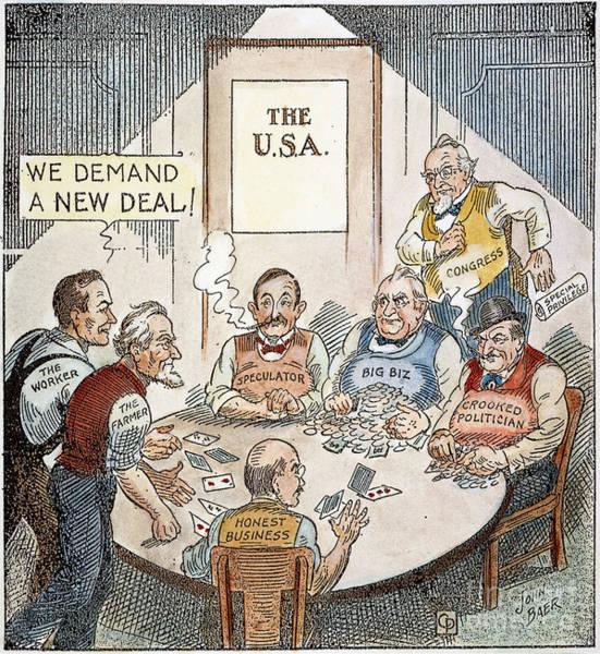 Photograph - Cartoon: New Deal, 1932 by Granger